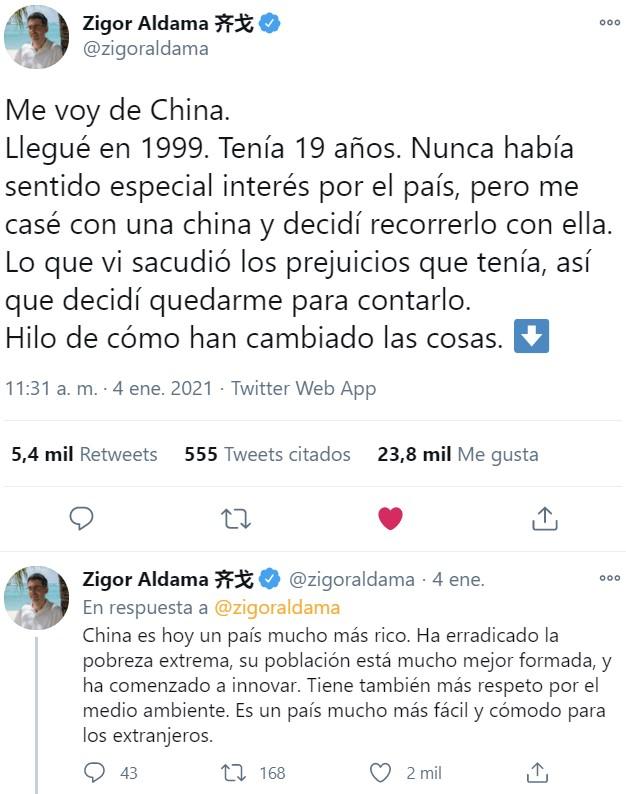 Un español vuelve a Bilbao después de 19 años viviendo en China