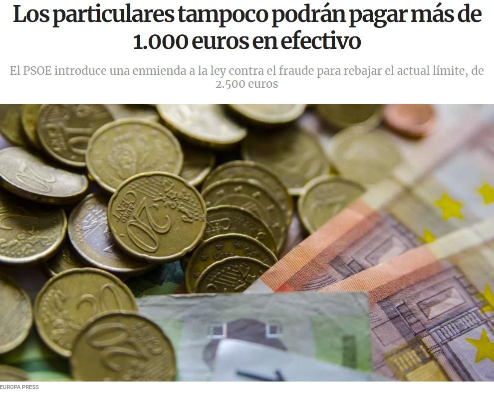Cada día nos acercamos más a la eliminación del dinero en efectivo...