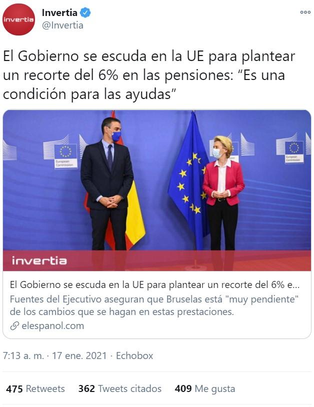 """Del """"Europa no nos deja"""" pasamos al """"es una condición para las ayudas"""""""