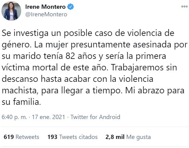 Venga hombre, hay que tuitear víctimas, que estos ministerios no se pagan solos...