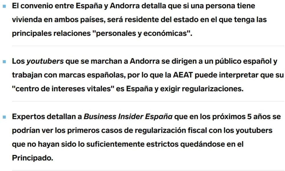 Nobody expects the fiscal Spanish inquisition
