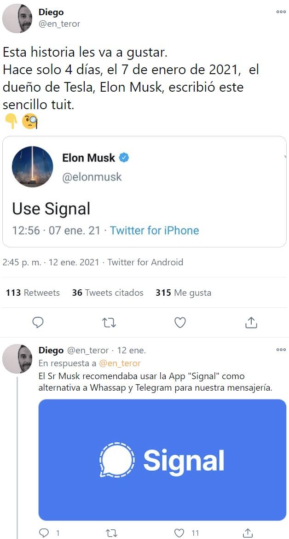 Hace pocos días pasó algo muy curioso con Elon Musk...