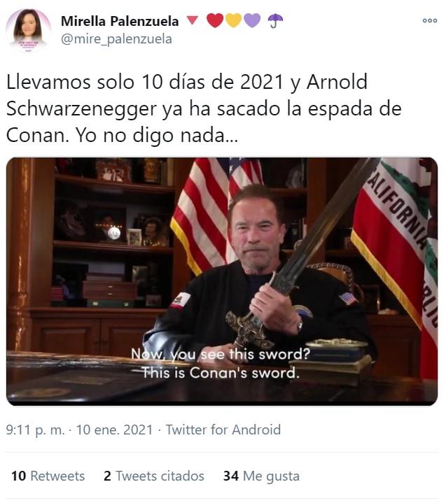 El brillante discurso de Arnold Schwarzenegger con mejor guión que Crepúsculo, y que amasa más de medio millón de likes en Twitter