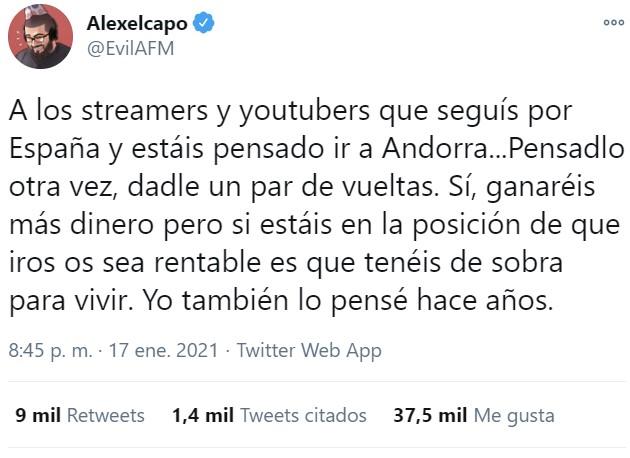 Alex El Capo explica por qué él decidió quedarse en España