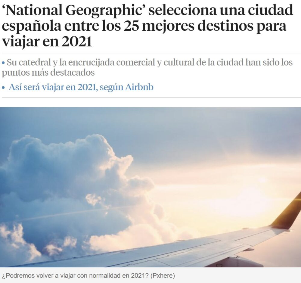 Vitoria entre los 25 mejores destinos para viajar en 2021