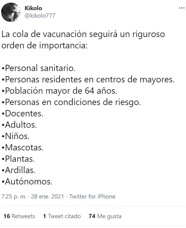 Orden de vacunación basado en la biología de los sujetos