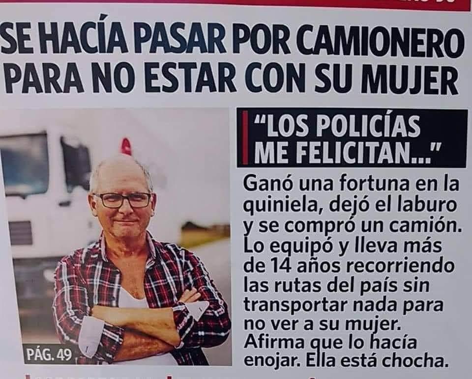 """""""Los policías me felicitan"""""""