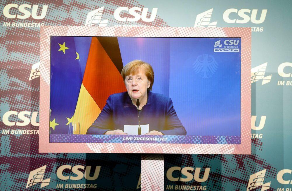 """Merkel considera """"problemático"""" el veto de Twitter a Trump"""
