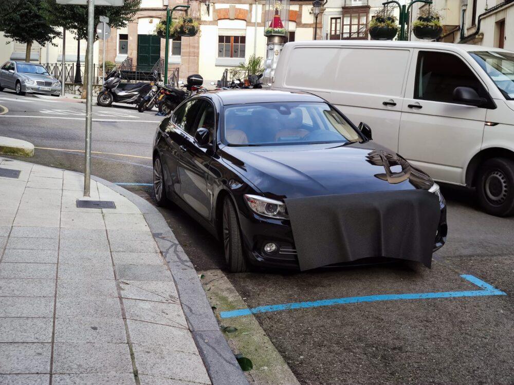 Mascarilla para coches vista en Cantabria