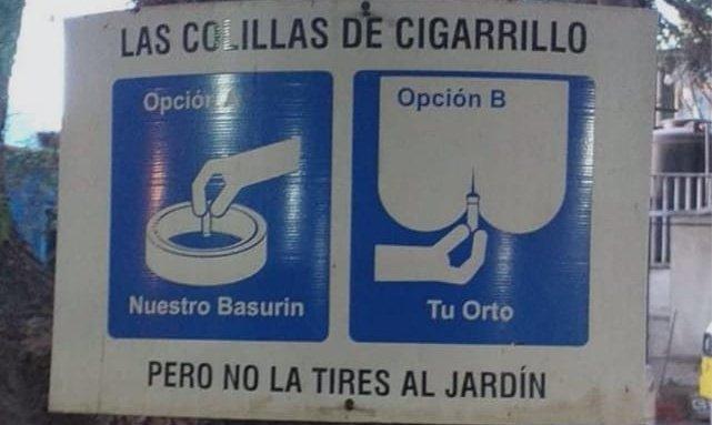 Un cartel que podríamos importar de Argentina