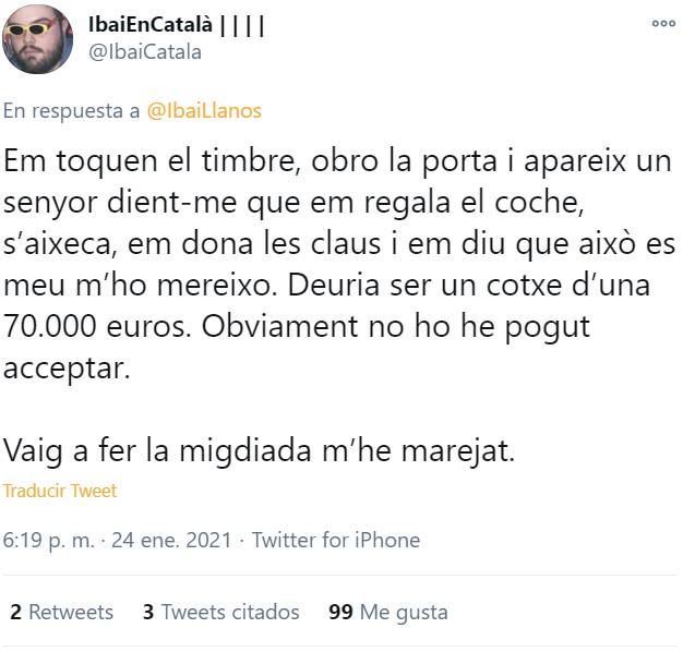 """""""Toma, te regalo mi coche de 70.000 euros. Hasta luego"""""""