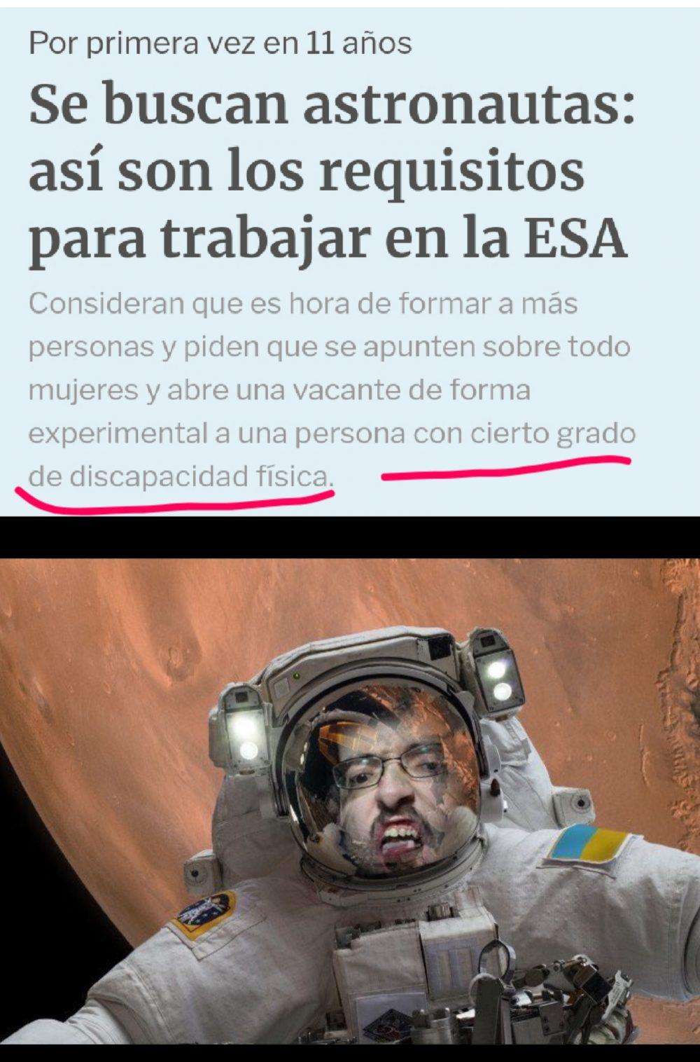 Estos sos nuevos requisitos de la ESA para buscar nuevos astronautas