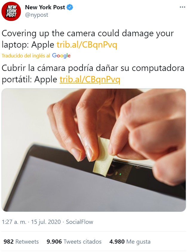 Buen intento, Apple...