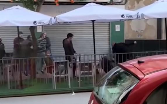 La tangana de los policías de Jaén COMPLETA
