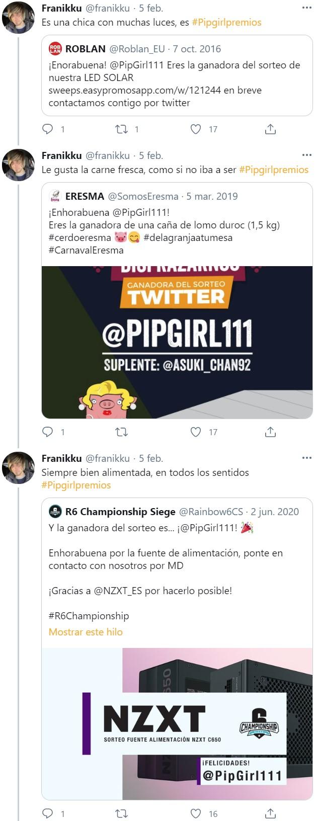 El caso Pipgirl111: ¿Superpoderes para ganar todos los concursos o... timo masivo?