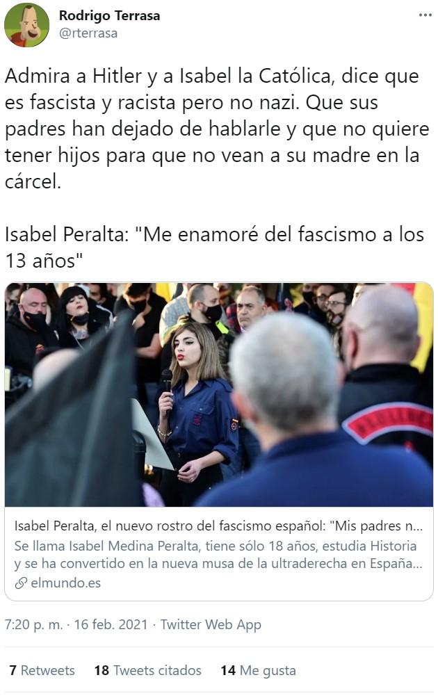 Isabel Peralta: La nueva Barbie Fascio