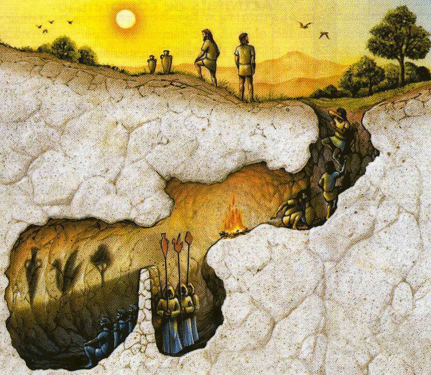 El mito de la caverna.