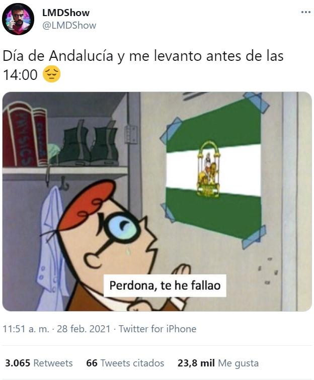 Un verdadero Andaluz lleva pocas horas despierto