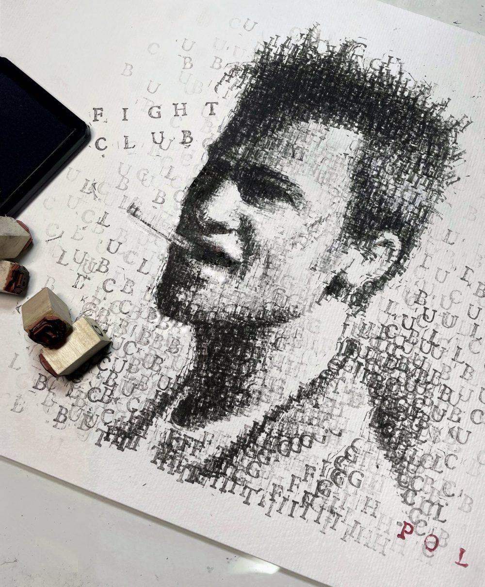 Tyler Durden, realizado letra a letra.
