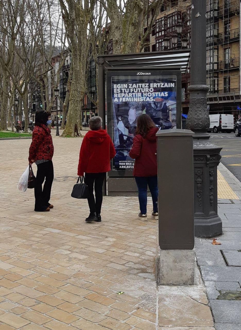 Publicidad pasivo agresiva para invitar a los vascos a que se alisten en la Ertzaintza