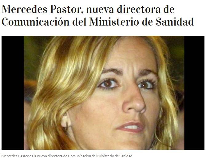 La hermana de Ana Pastor, mujer de Ferreras, nueva directora de comunicación del Ministerio de Sanidad