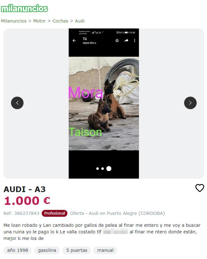"""Anuncio de """"Audi A3"""""""