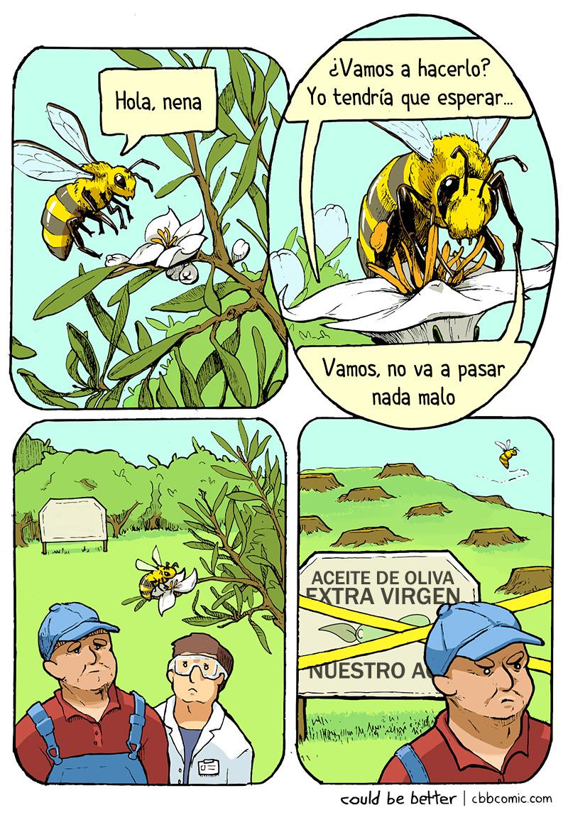 Las abejas pueden hundir negocios