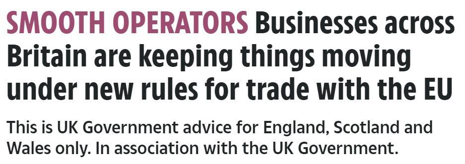 ¡Es la hora de la propaganda!: El Gobierno está sacando anuncios que parecen artículos legítimos para decirnos que todo es maravilloso y que el Brexit va muy bien