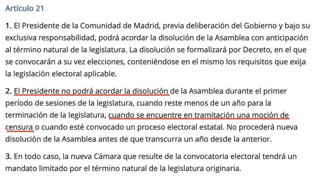 ¿Habrá nuevas elecciones en Madrid?: La explicación de un juez