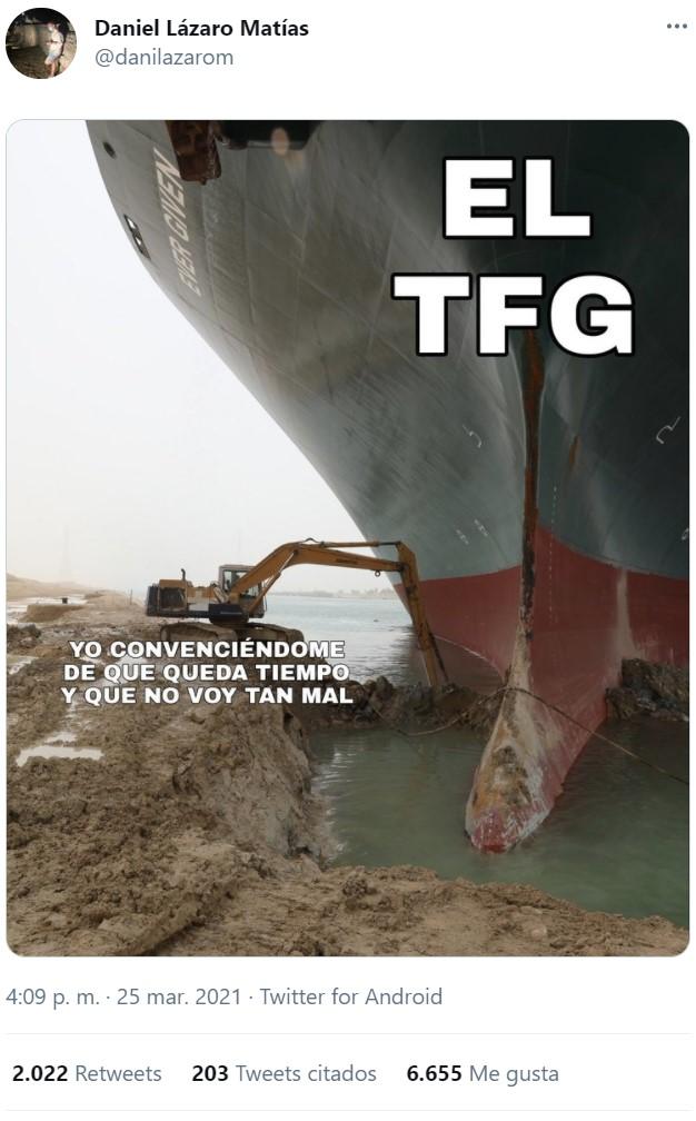 Un tercio del comercio mundial está en manos de un egipcio a los mandos de una excavadora.