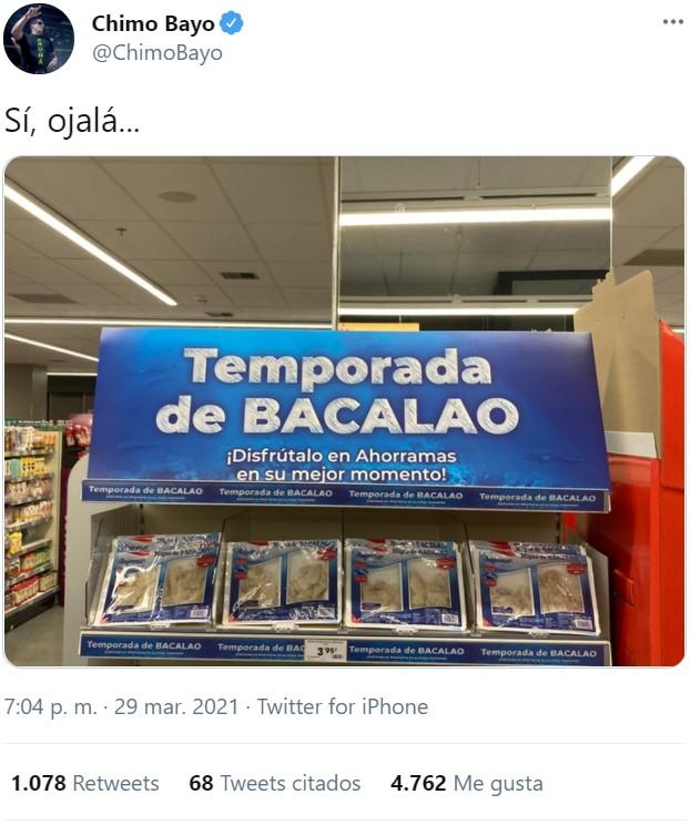 Bajona de Chimo Bayo en el supermercado