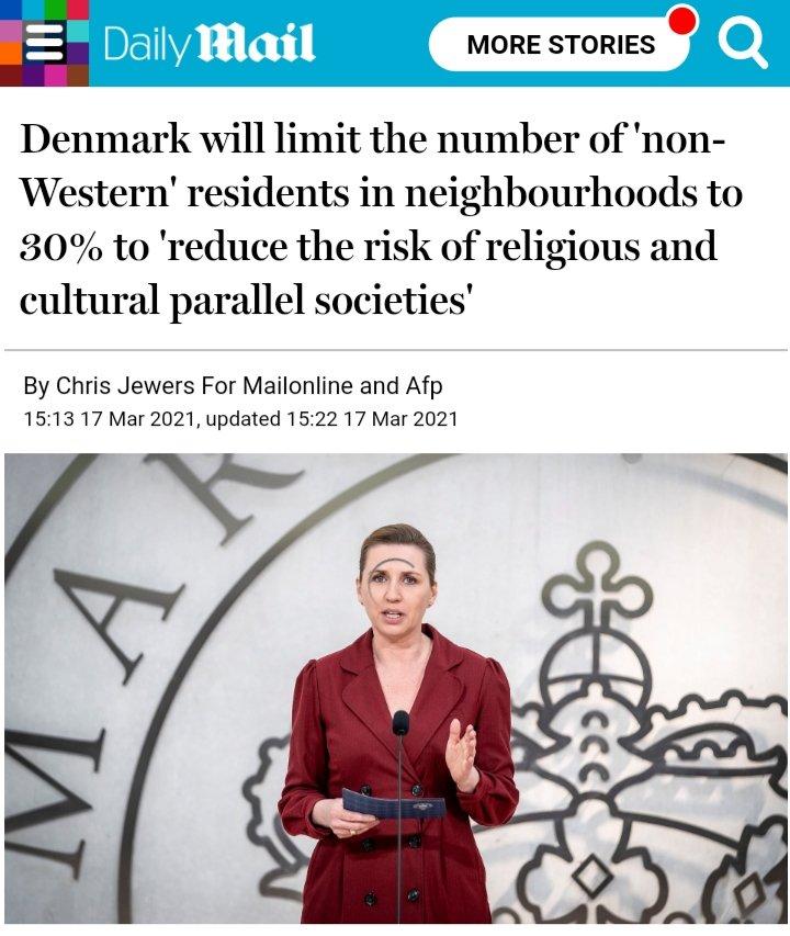 Dinamarca limitará el número de residentes no occidentales en los barrios para reducir riesgo de establecimiento de sociedades paralelas de tipo religioso y cultural