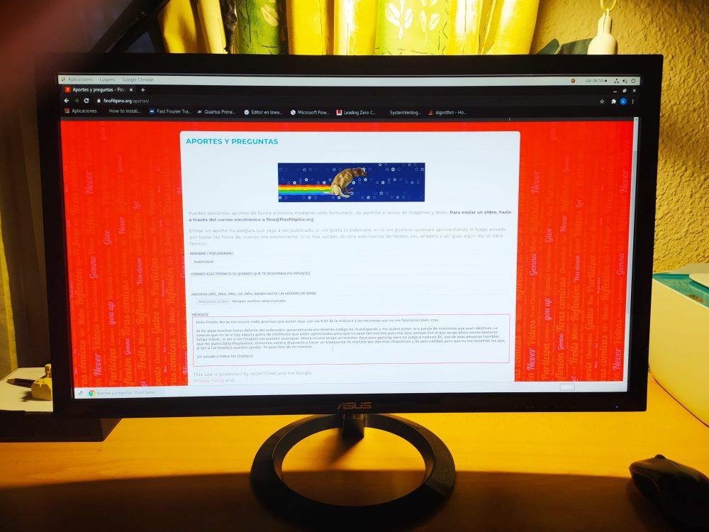 ¿Algún monitor especialmente diseñado para gente que pasa mucho tiempo frente a la pantalla?