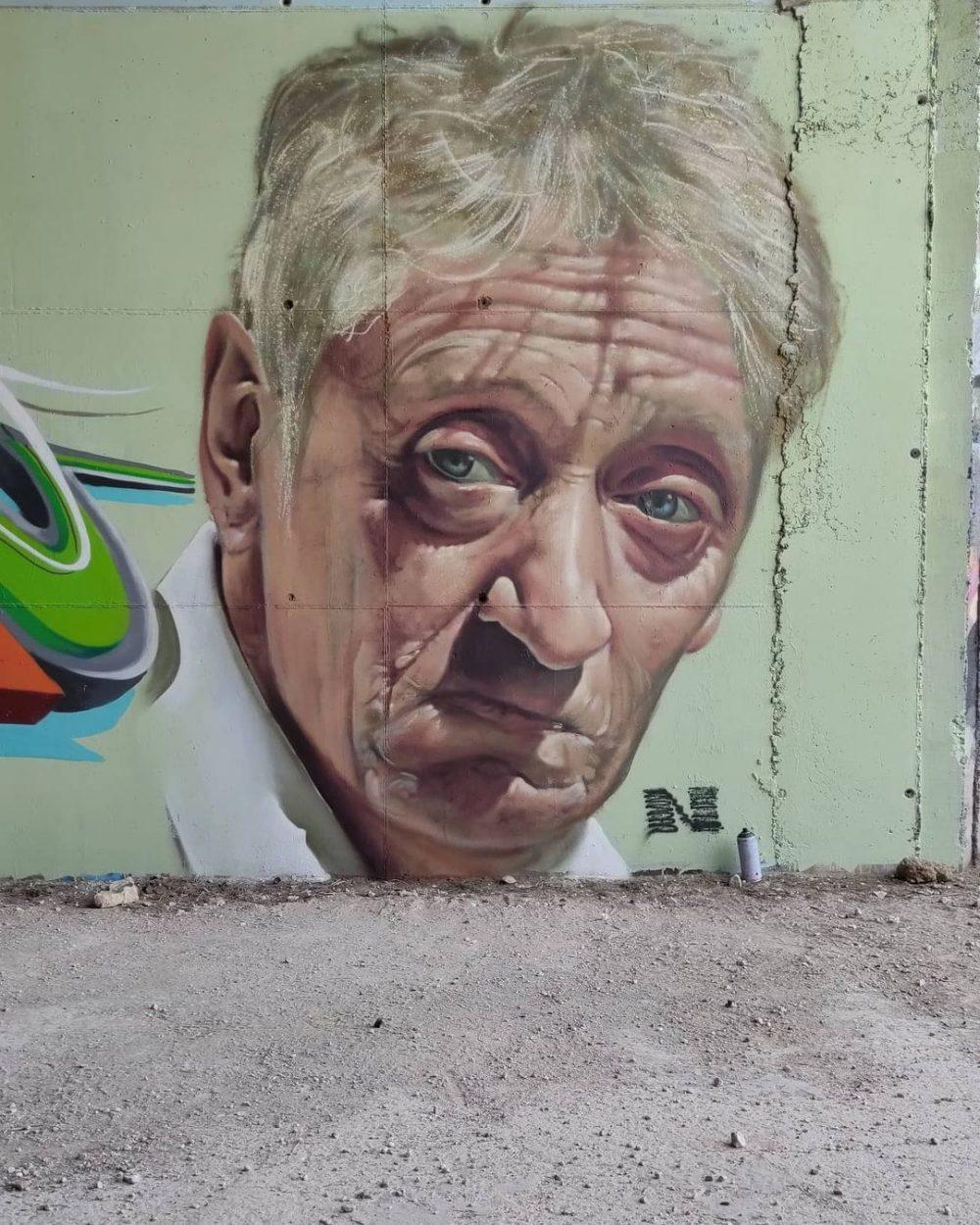 Impresionante grafiti de Enrique San Francisco.