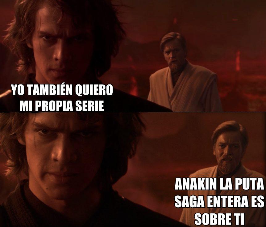 Aunque saldrá en la serie de Obi-Wan, Anakin está un poco celosón chicos