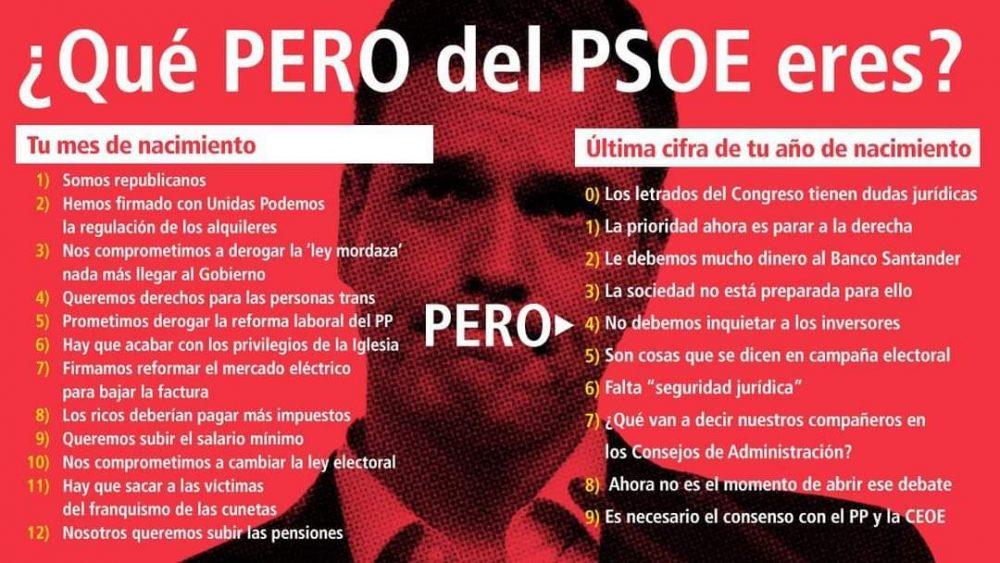 ¿Qué PERO del PSOE eres?