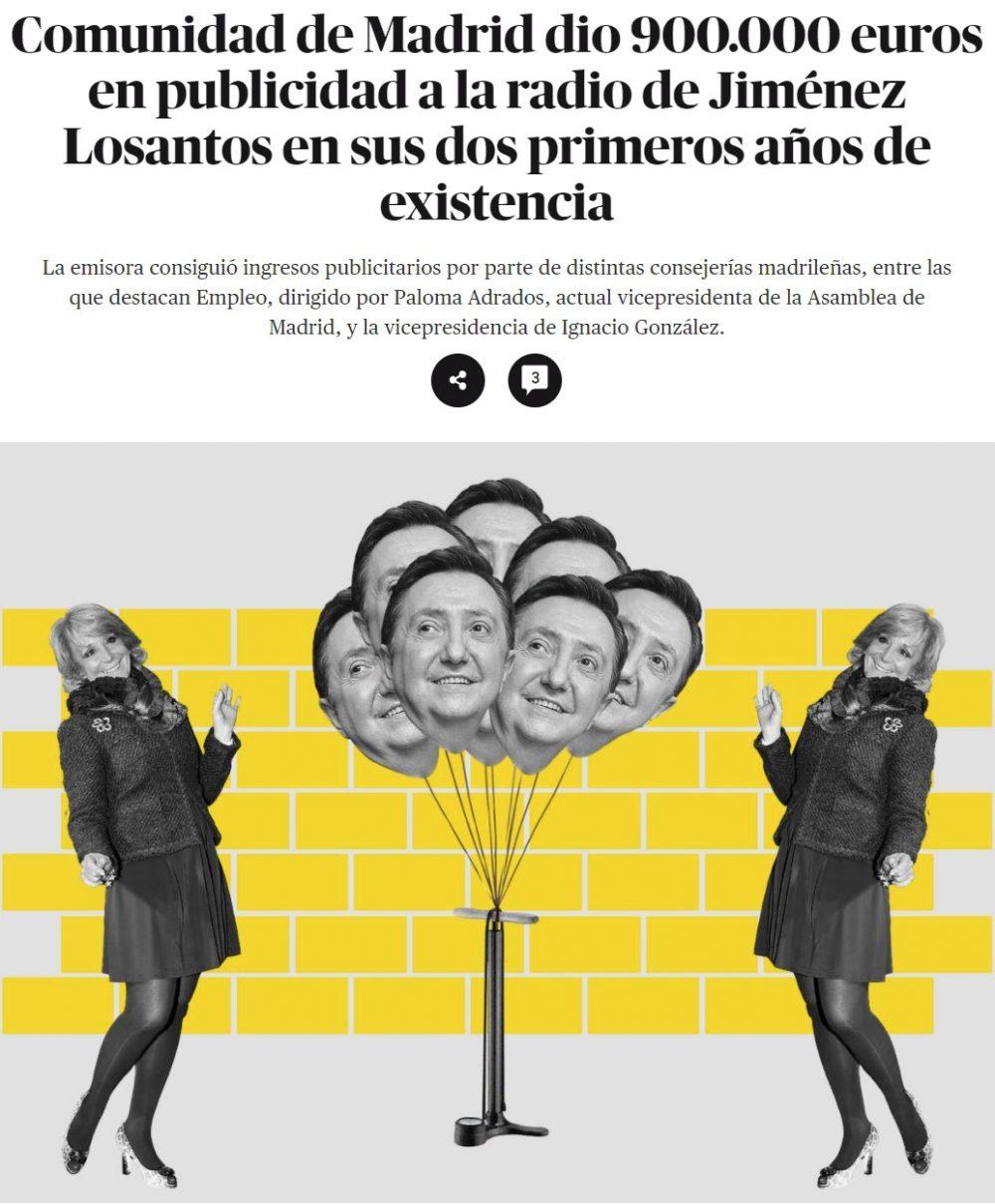 Jiménez Losantos es todo un ejemplo para emprendedores: monta una radio y en un año ya tiene 900.000 pavos en publicidad de la comunidad de Madrid