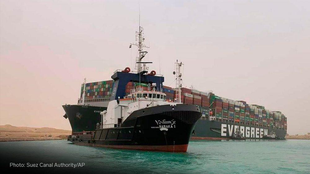 Canal de Suez hace dos días:
