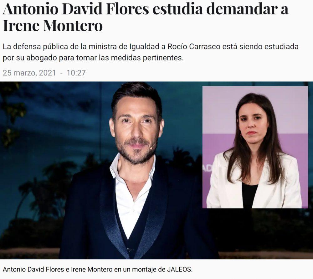 ¿Está Antonio David Flores planteándose practicar MACHISMO JUDICIAL contra la ministra Montero?