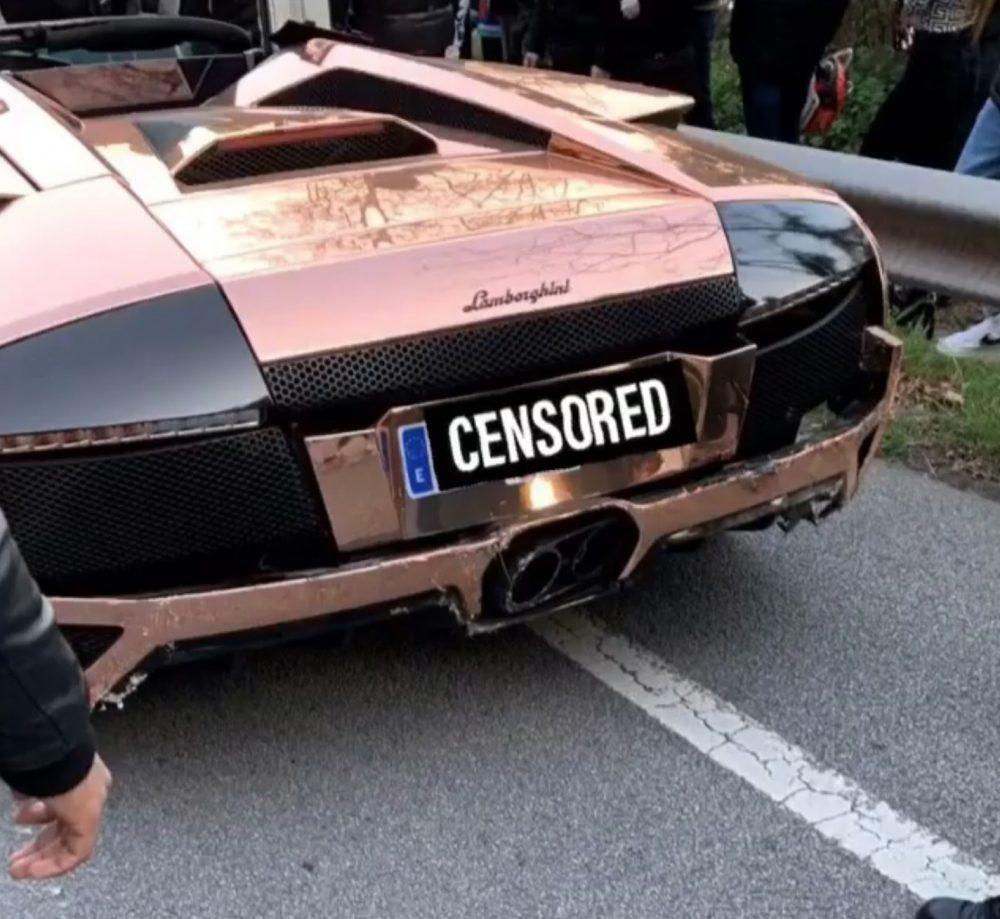 Un Lamborghini murciélago amocha en la Arrabassada