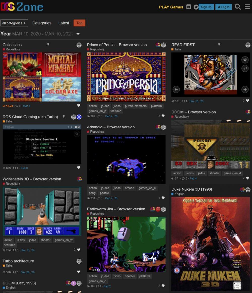 Dos.Zone: Juega a miles de juegos de MSDOS en tu navegador (PC y Móvil)