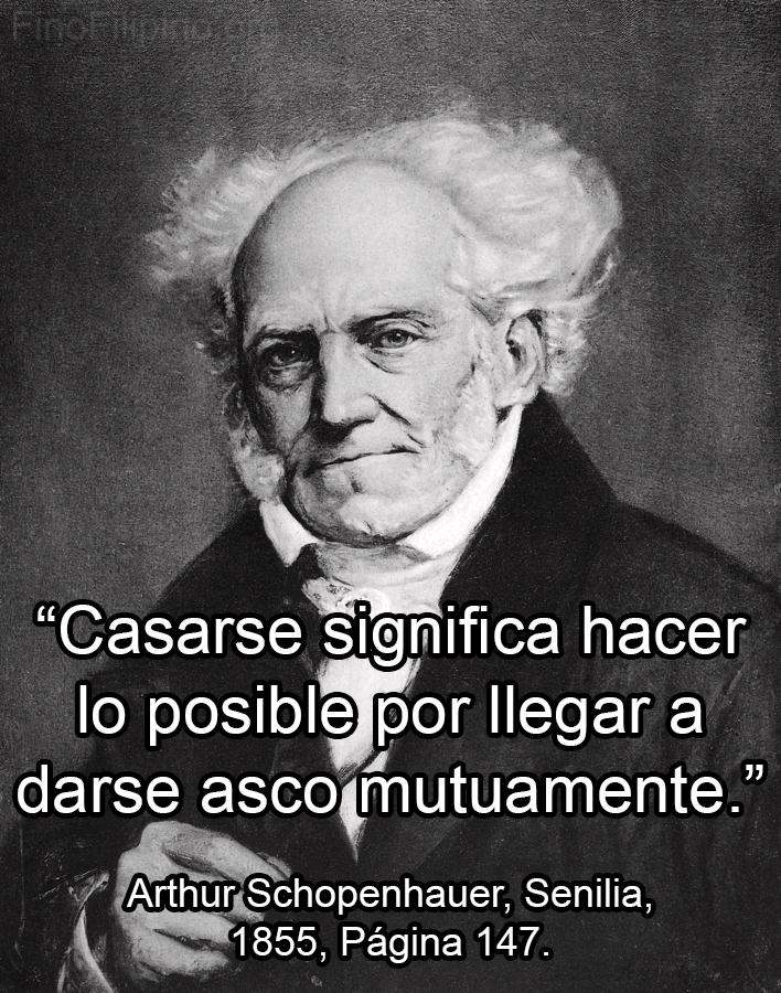 Cuando invitas a Schopenhauer a tu boda