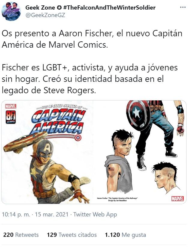 Un yonki le ha robado el traje a Capitán América