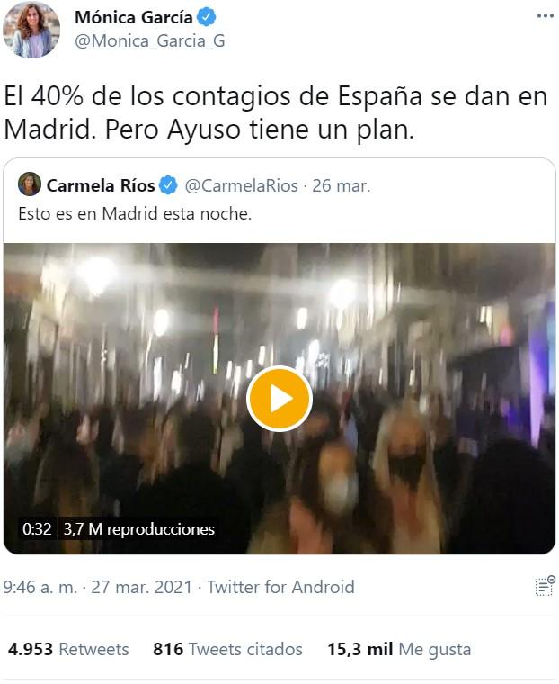"""""""El 40% de los contagios de España se dan en Madrid"""""""