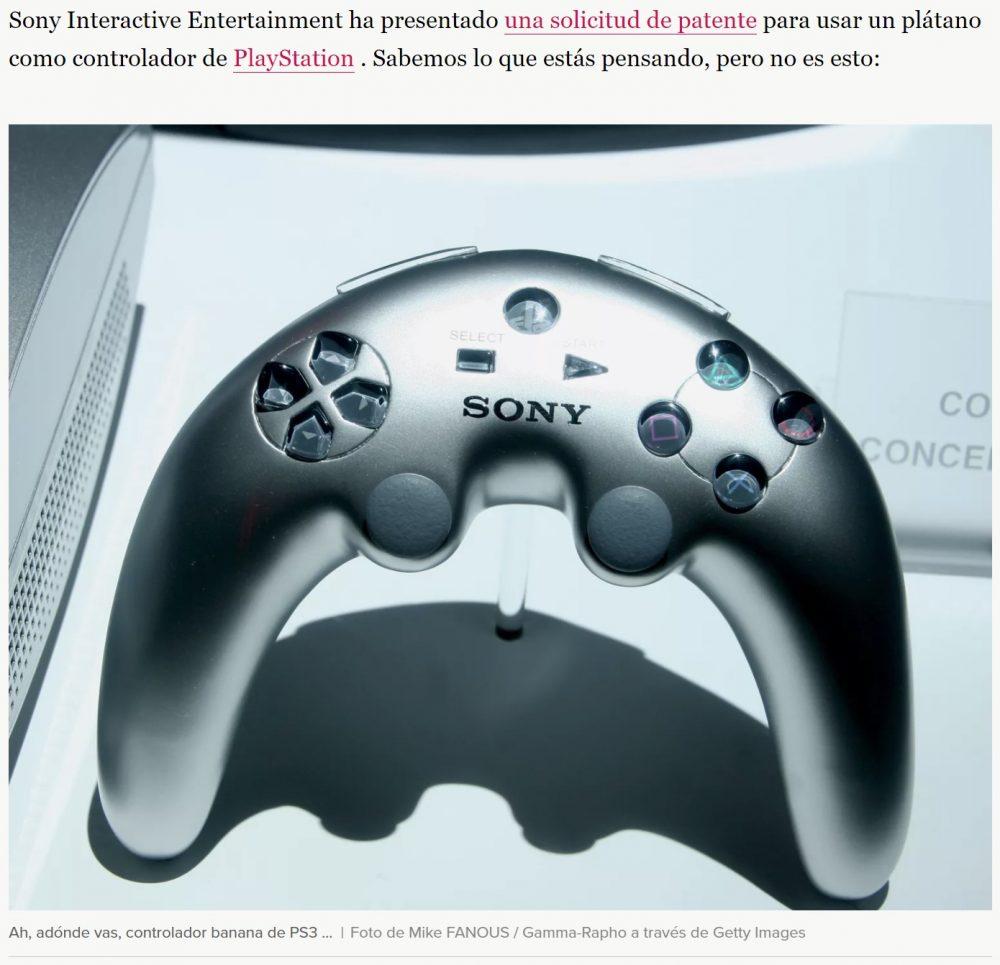 Sony ha patentado un mando con forma de plátano