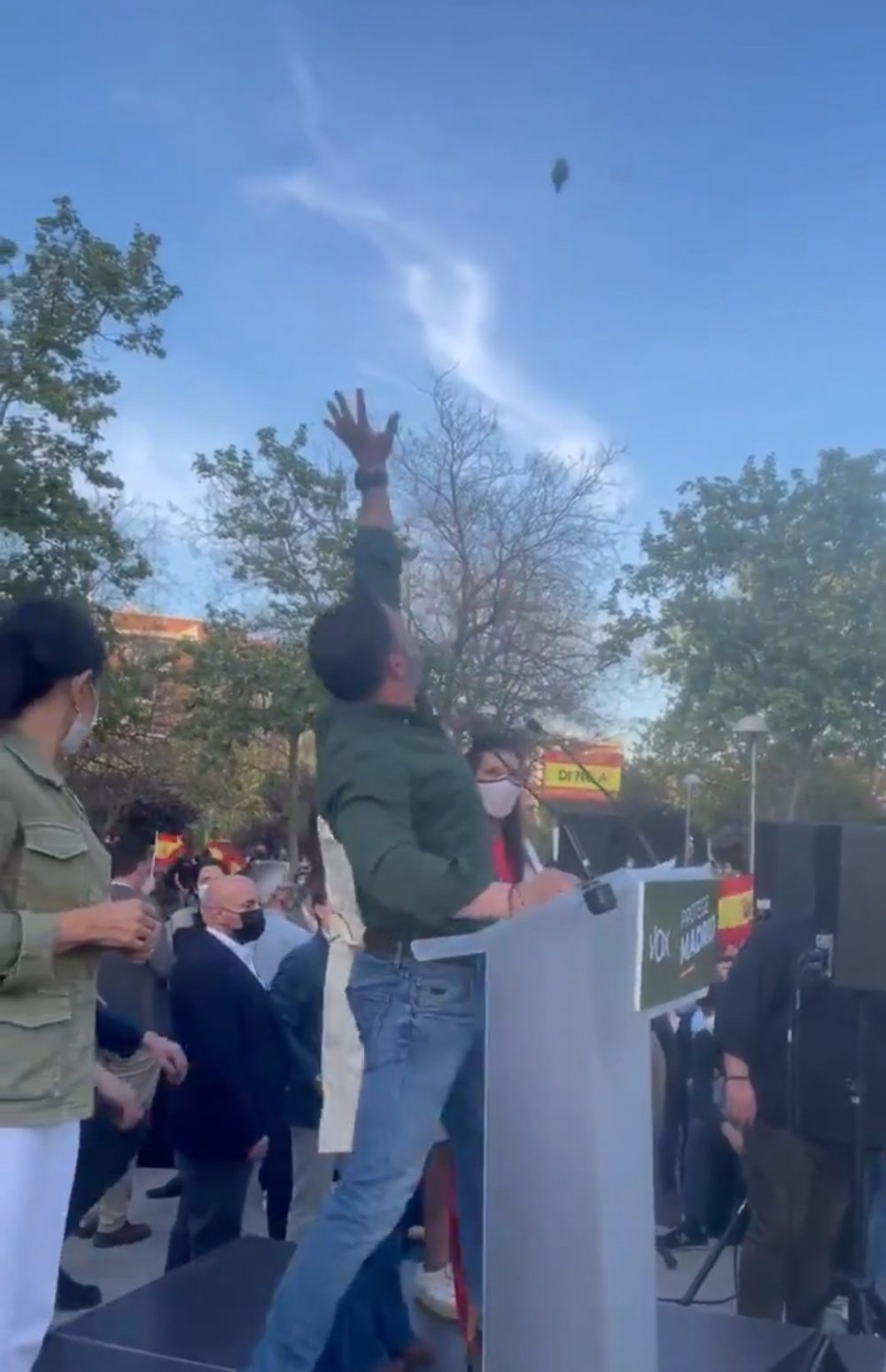 Ayer se vivió una tarde de protestas pacíficas en Vallecas...