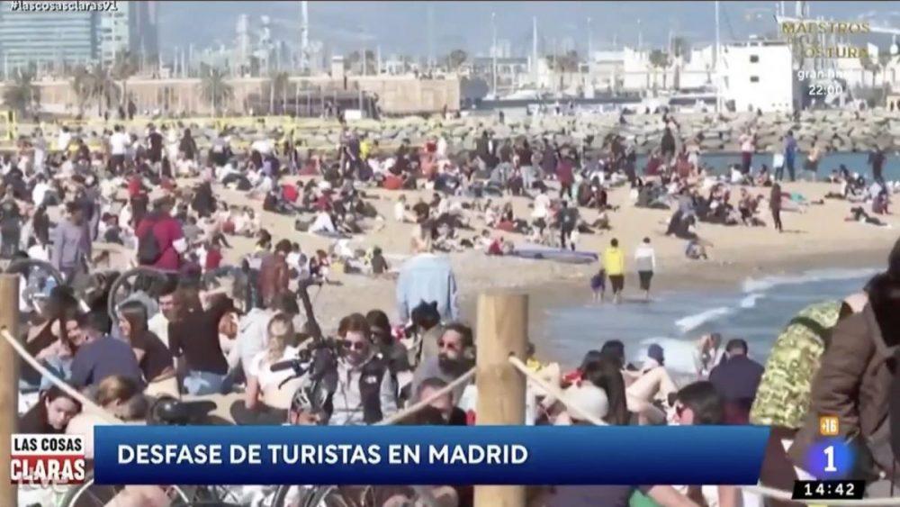 Así estaba ayer la playa de <del>Barcelona</del> Madrid
