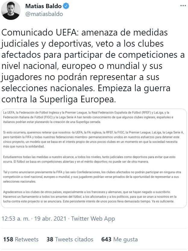 La liga de los equipos extraordinarios: nace la SUPERLIGA DE EUROPA