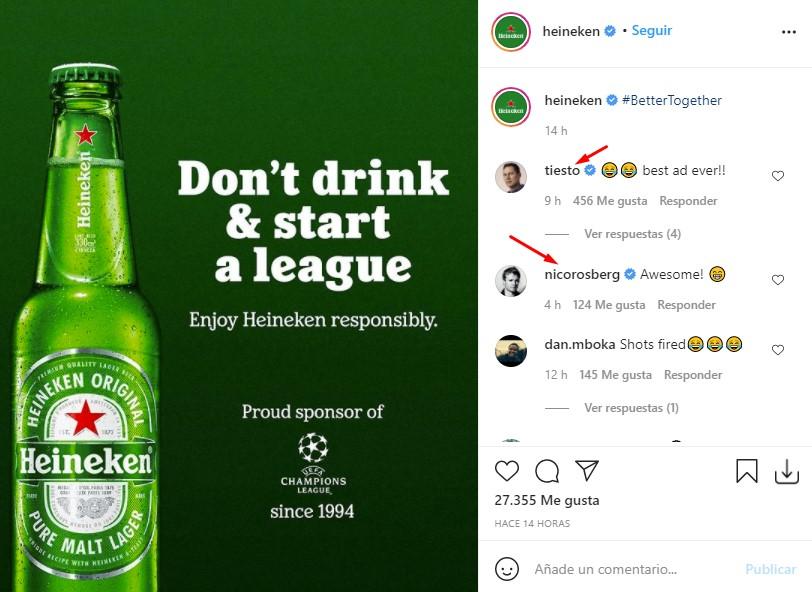 """""""No bebas y empieces una liga"""": La oportuna campaña de Heineken a raíz de la Super Liga"""