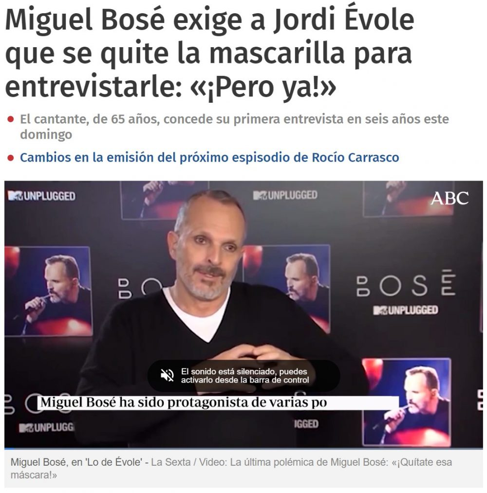 """Dicen que Miguel Bosé comenta en este blog bajo el nick """"Jodidoiluminado"""""""